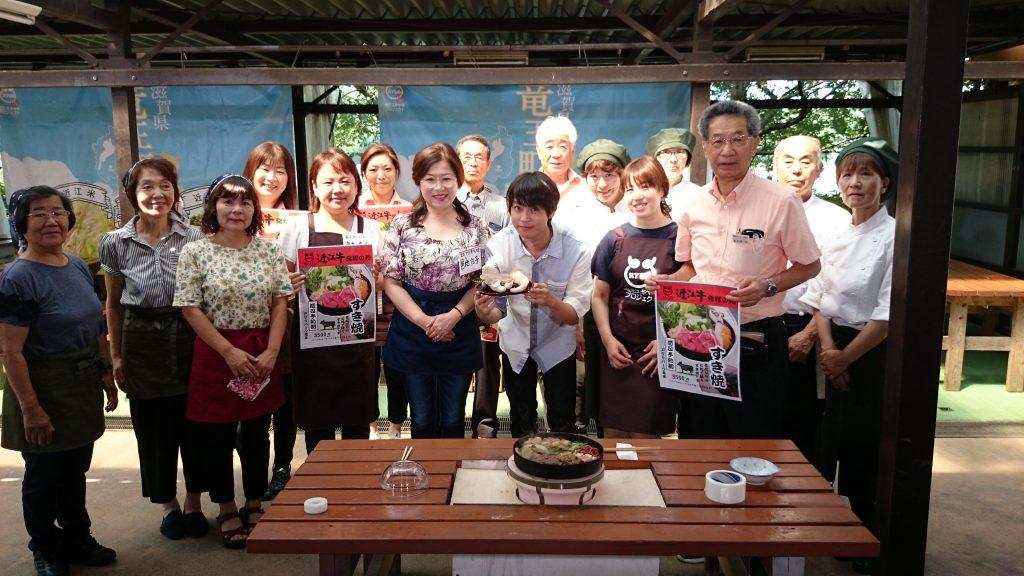 NHK「あさイチ」藤原薫さんと足太あわび茸 近江牛のすき焼き