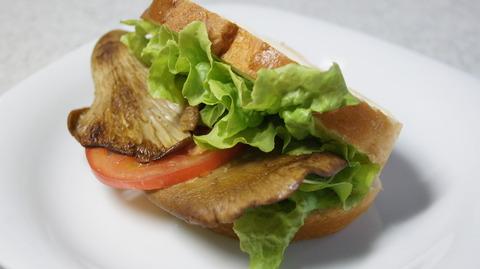 あわび茸サンド
