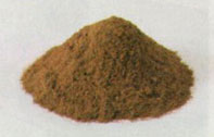 powder made from crushed raw materials tip
